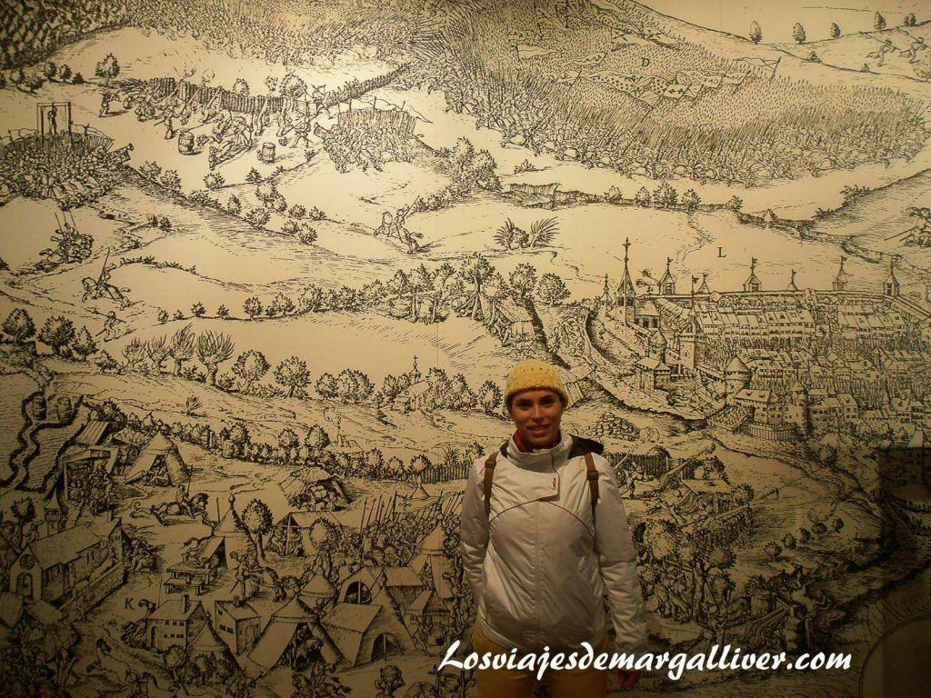 Tapiz situado en el castillo de gruyeres - Los viajes de Margalliver